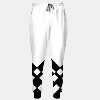 Miniaturka Abstract geometric pattern - black and white. Cotton sweatpants, Live Heroes