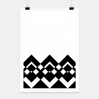 Imagen en miniatura de Abstract geometric pattern - black and white. Poster, Live Heroes