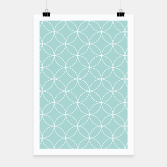 Miniaturka Abstract pattern - blue. Poster, Live Heroes
