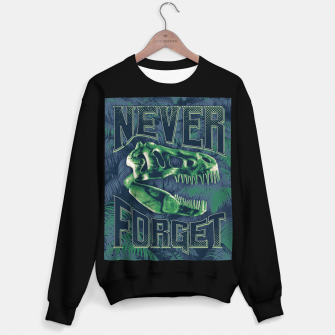 Miniature de image de Never Forget T-Rex Sweater regular, Live Heroes