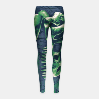 Thumbnail image of Never Forget T-Rex Girl's leggings, Live Heroes