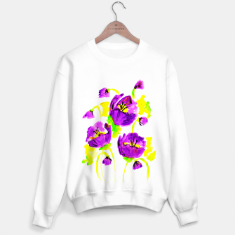 Miniature de image de Purple Poppies Sweater regular, Live Heroes