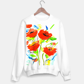 Miniature de image de Poppies on Yellow Sweater regular, Live Heroes