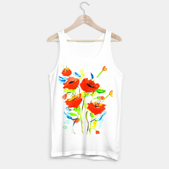 Thumbnail image of Poppies on Yellow Tank Top regular, Live Heroes