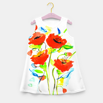 Imagen en miniatura de Poppies on Yellow Girl's summer dress, Live Heroes