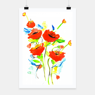Miniaturka Poppies on Yellow Poster, Live Heroes