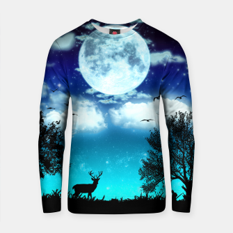 Thumbnail image of Dreamy night into the forest Cotton sweater, Live Heroes