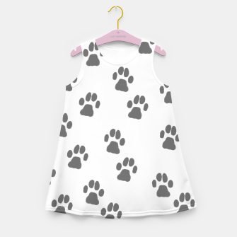 Thumbnail image of Paw print Girl's summer dress, Live Heroes