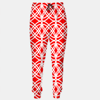Miniaturka Abstract pattern - red and white. Cotton sweatpants, Live Heroes
