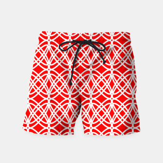 Imagen en miniatura de Abstract pattern - red and white. Swim Shorts, Live Heroes
