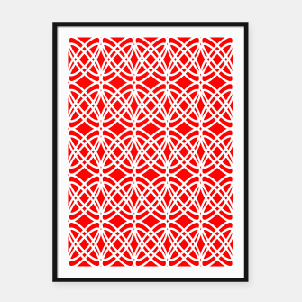 Imagen en miniatura de Abstract pattern - red and white. Framed poster, Live Heroes
