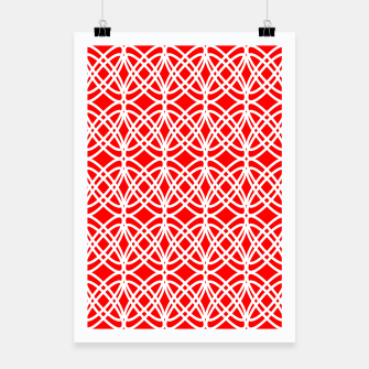 Imagen en miniatura de Abstract pattern - red and white. Poster, Live Heroes