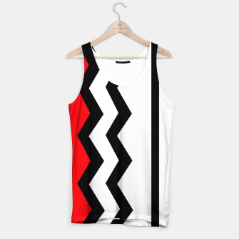 Thumbnail image of Abstract geometric pattern - red, gray, black and white. Tank Top, Live Heroes