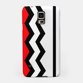 Imagen en miniatura de Abstract geometric pattern - red, gray, black and white. Samsung Case, Live Heroes