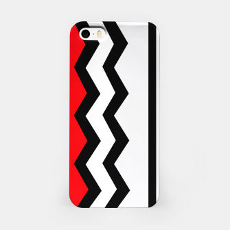 Imagen en miniatura de Abstract geometric pattern - red, gray, black and white. iPhone Case, Live Heroes