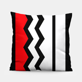 Imagen en miniatura de Abstract geometric pattern - red, gray, black and white. Pillow, Live Heroes