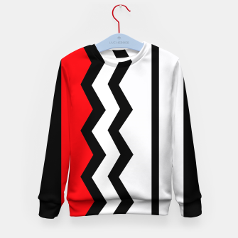 Imagen en miniatura de Abstract geometric pattern - red, gray, black and white. Kid's sweater, Live Heroes