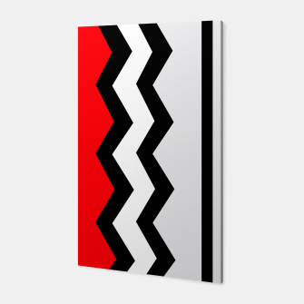 Imagen en miniatura de Abstract geometric pattern - red, gray, black and white. Canvas, Live Heroes
