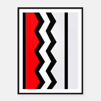 Imagen en miniatura de Abstract geometric pattern - red, gray, black and white. Framed poster, Live Heroes