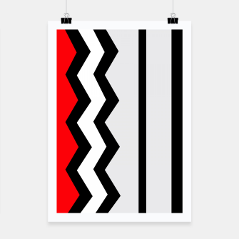 Imagen en miniatura de Abstract geometric pattern - red, gray, black and white. Poster, Live Heroes