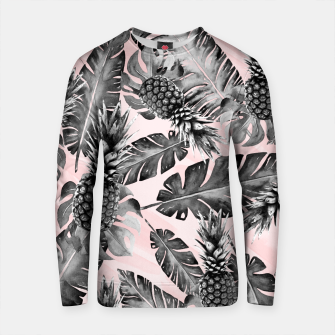 Thumbnail image of Leaves and pineapples pattern Sudadera de algodón, Live Heroes