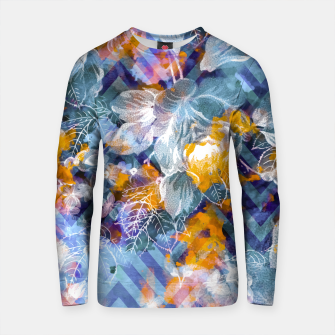 Thumbnail image of Abstract flowers and plants with geometric Sudadera de algodón, Live Heroes