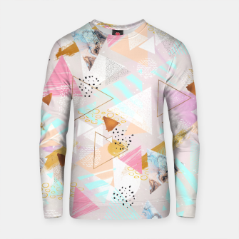 Thumbnail image of Abstract geometric textures and marble Sudadera de algodón, Live Heroes