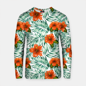 Thumbnail image of Botanical pattern with tropical flowers Sudadera de algodón, Live Heroes
