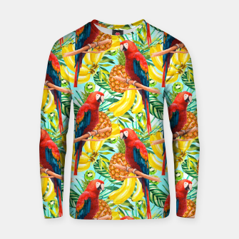 Thumbnail image of Pattern of birds and tropical fruit Sudadera de algodón, Live Heroes