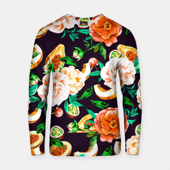 Thumbnail image of Pattern flowers and tropical fruits Sudadera de algodón, Live Heroes