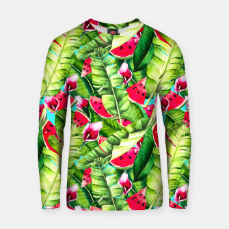Thumbnail image of Watermelon pattern in the jungle Sudadera de algodón, Live Heroes