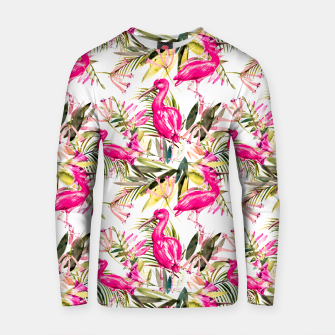 Thumbnail image of Exotic pink bird in the tropical jungle Sudadera de algodón, Live Heroes