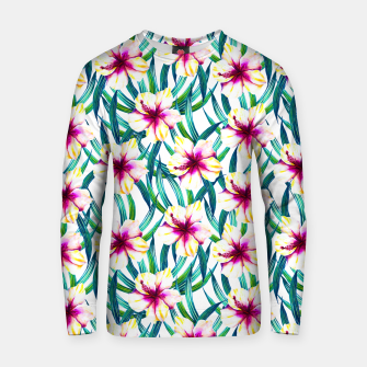Thumbnail image of Tropical floral pattern Sudadera de algodón, Live Heroes