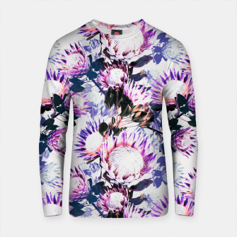 Thumbnail image of Purple protea floral pattern Sudadera de algodón, Live Heroes