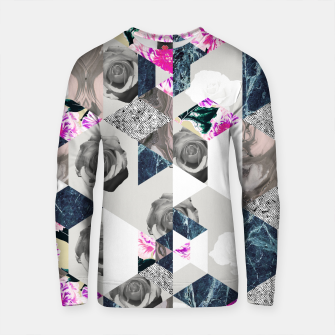 Thumbnail image of Geometric mosaic of textures and roses Sudadera de algodón, Live Heroes