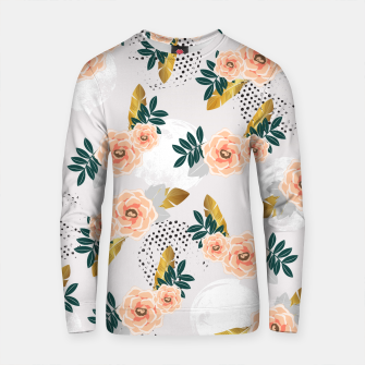 Thumbnail image of Floral pattern of roses Sudadera de algodón, Live Heroes
