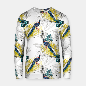 Thumbnail image of Pheasant animals birds in floral pattern Sudadera de algodón, Live Heroes
