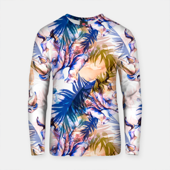 Thumbnail image of Rhinoceros with colorful tropical leaves Sudadera de algodón, Live Heroes