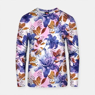 Thumbnail image of Abstract floral tropical nature Sudadera de algodón, Live Heroes