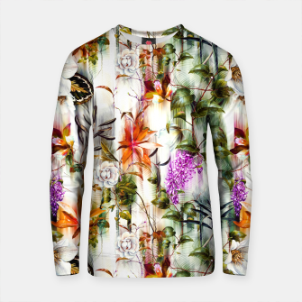 Thumbnail image of Abstract Motion Blur Floral Botanical Sudadera de algodón, Live Heroes