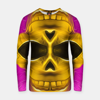 Thumbnail image of golden skull with pink background Cotton sweater, Live Heroes