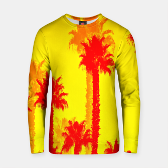 Thumbnail image of orange palm tree pattern abstract with yellow background Cotton sweater, Live Heroes