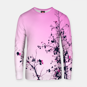 Thumbnail image of isolate tree branch abstract with leaf and pink background Cotton sweater, Live Heroes