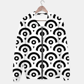 Miniaturka Abstract pattern - black and white. Cotton zip up hoodie, Live Heroes
