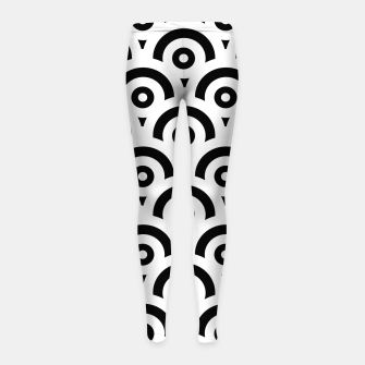 Miniaturka Abstract pattern - black and white. Girl's leggings, Live Heroes