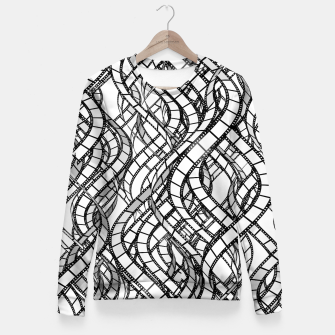 Thumbnail image of Movie Buff Woman cotton sweater, Live Heroes
