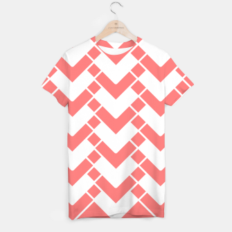 Miniatur Abstract geometric pattern - pink and white. T-shirt, Live Heroes