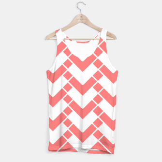 Thumbnail image of Abstract geometric pattern - pink and white. Tank Top, Live Heroes