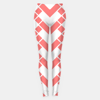 Miniature de image de Abstract geometric pattern - pink and white. Leggings, Live Heroes