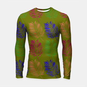 Miniature de image de Rashguard with exotic ethno Leaves eco, Live Heroes